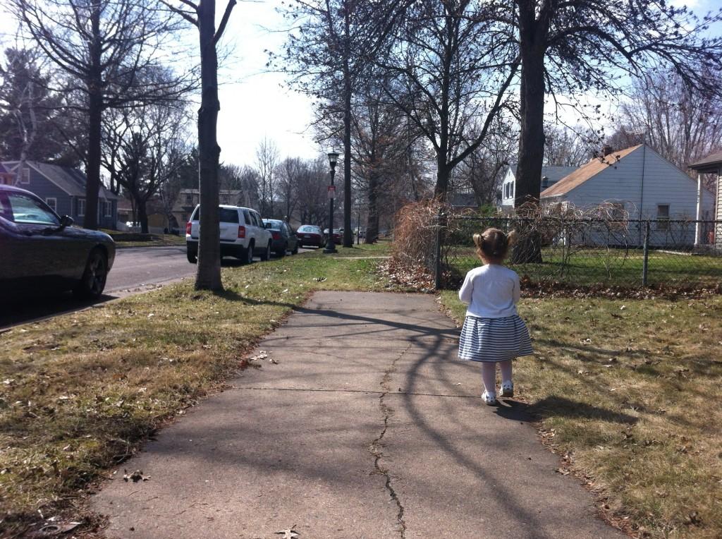 Walking.