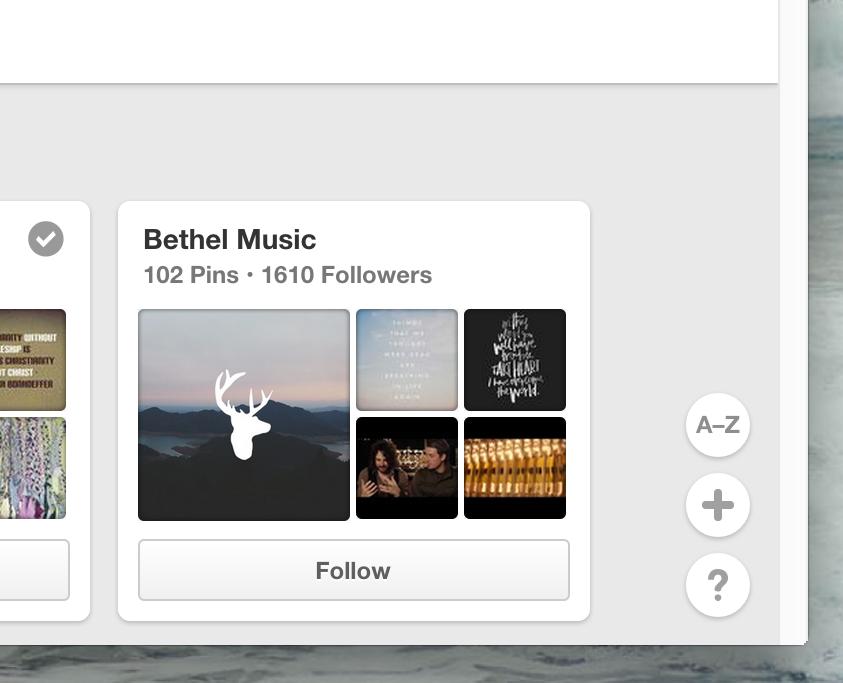 Your new Pinterest alphabetizing sort button!
