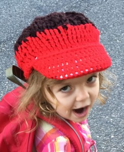Aelah sporting my hat from Malawi